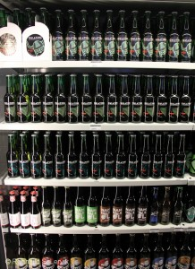 Øl i kjøledisk.