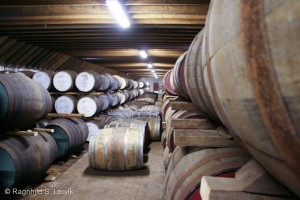 Shhh, whisky sleeping! The warehouse at BenRiach.