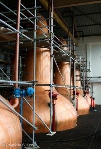 """Slik kan det se ut i """"the silent season"""" om sommeren når destilleriet stenger produksjonen for å kunne utføre vedlikehold."""