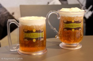 Butterbeer in souvenir tankards