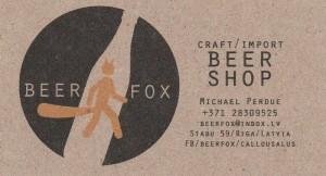 Visitkortet til Beerfox