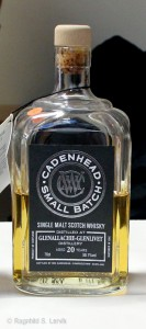 Glenallachie 20 years Cadenhead Small Batch bottle